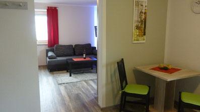 Gästehaus Erle Apartment Grünten Küchen- / Wohnbereichs Ansicht