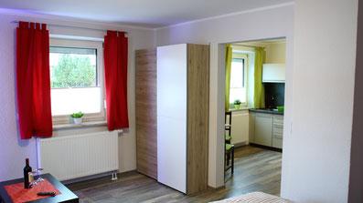 Gästehaus Erle Apartment Grünten Ansicht Wohnbereich / Küche