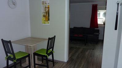 Gästehaus Erle Apartment Tegelberg Ansicht Essbereich