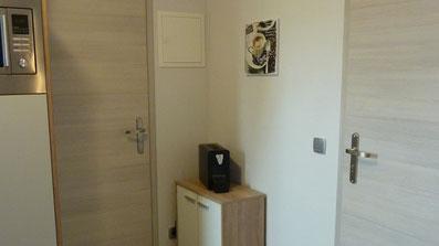 Gästehaus Erle Apartment Nebelhorn Küche Cremesso Kaffemaschine Ansicht