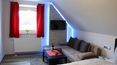 Gästehaus Erle Apartment Nebelhorn Wohnbereich Ansicht