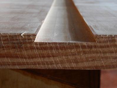 一枚板吸い付き桟 加工