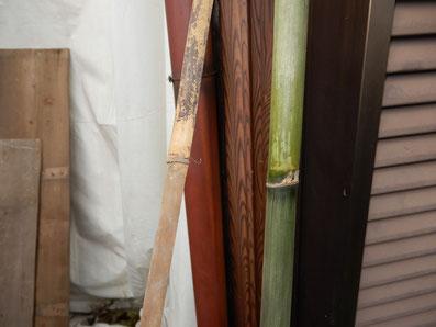古民家再生 土壁解体 木舞