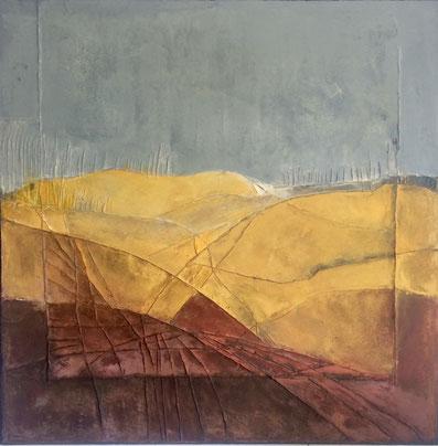 Holz, 100 x 100 cm; Mischtechnik - Christiana Sieben