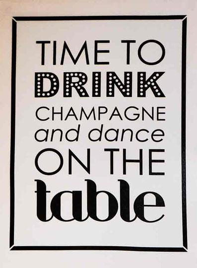 Schild Drink Champaign