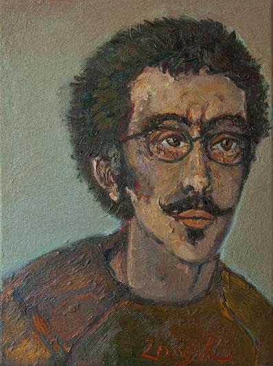 Der Zeichner Silvian Bravo, 30cm x 40cm, Öl auf Leinwand, 2009