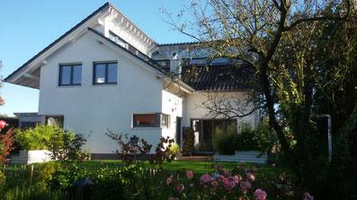 Einfamilienhaus mit Fenster im Pultdachversatz