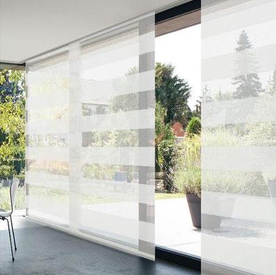 Design Flächenvorhangschiene bei Lamellen Junker in Langenselbold, MHZ Flächenvorhang Carat
