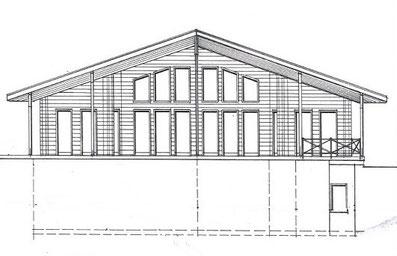 Hanghaus als Wohnhaus - Holzhaus -  Grundriss - Oberaula