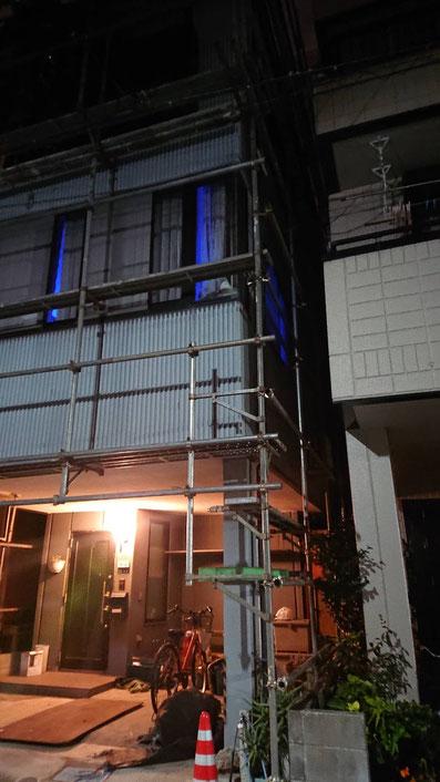墨田区で外壁塗装中!