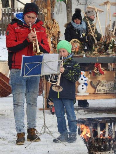 Gerald Konrad zusammen mit Julian Theuermann