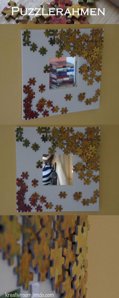 Spiegelrahmen, Puzzlerahmen, DIY