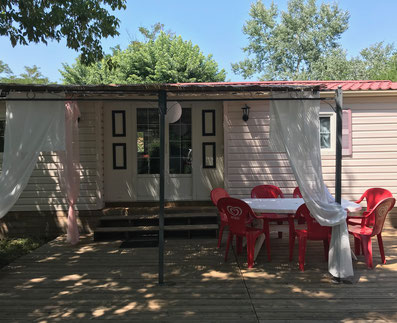 camping auvergne allier vichy grand mobil home 7p camping croix st martin