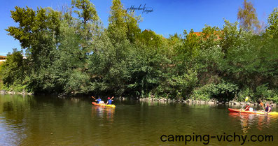 canoe camping vichy allier croix st martin cure vacance nature calme verdure