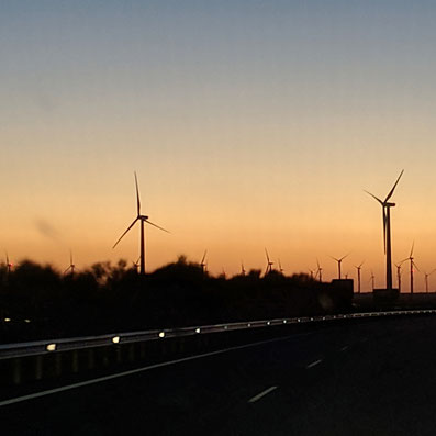 Andalusien im Sonnenuntergang