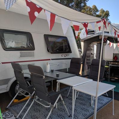 unser Caravan in isla Cristina, Andalusien
