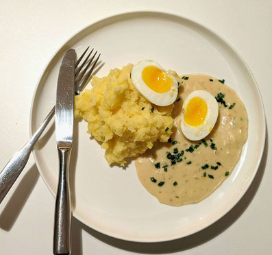 #die Pottkieker Nr.7 - Eier in Senfsauce mit Kartoffelstampf