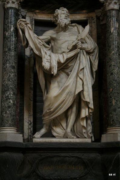 Der Heilige Bartholomäus, Statue in der Vatikanstadt.