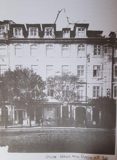Bild vor dem Umbau des Hauses am Rossio, 1912. Aufnahme: Hans Wimmer