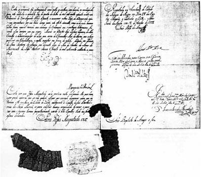 Urkunde D. José, Baugenehmigung des Hauses am Rossio, 1774.