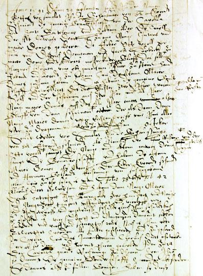 Protokoll der Wahl der Majordomus 1591 (Ausschnitt).
