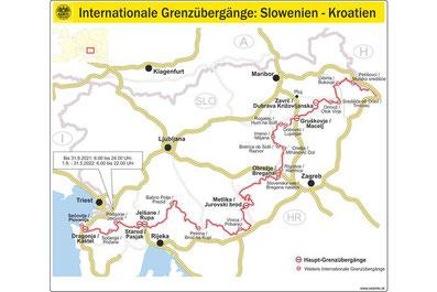 ÖAMTC: Rückreise aus Kroatien übe Slowenien nach Österreich