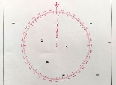 geographischer nordpol magnetisch nord missweisung winkel variation navigation seekarte merkatorkarte