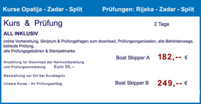 küstenpatent kuestenpatente boat skipper a und b coaching training kurs kroatien makarska riviera baska voda prüfung split