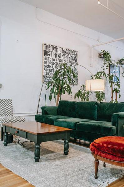 Un salon chaleureux