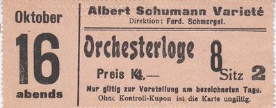 Albert Schumann Varieté um 1915