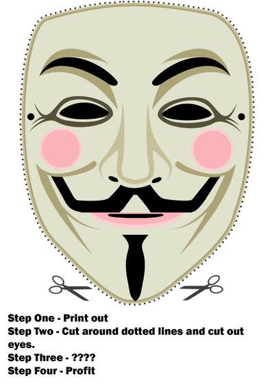 Guy Fawkes Maske zum Selbermachen