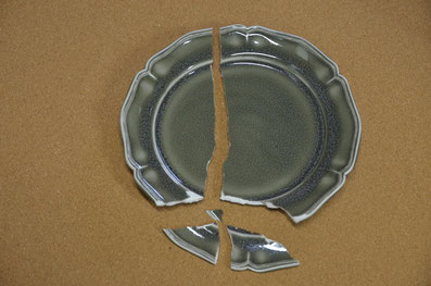 割れたお皿