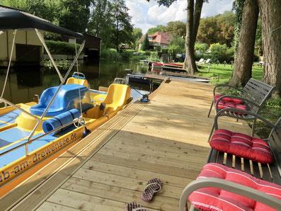 Holzsteg neu mit Colano Wassertreten