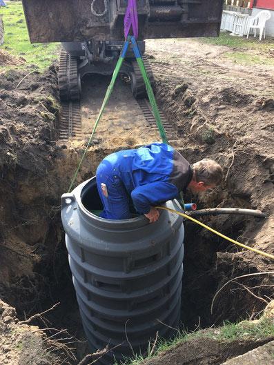 Pumpenanlage, Baggerarbeiten