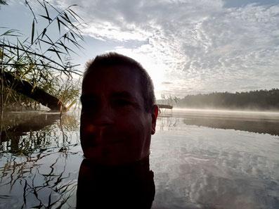 Kopf im See