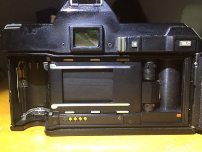 Geschlossener Verschluß bei einer alten Minolta 5000