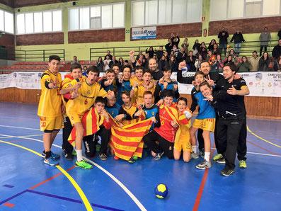 Sergi Baguer  Bronze amb l'equip Infantil Masculí