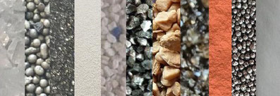 Strahlmittel, Strahlsand, Strahlmedium, Strahlgut, Sandstrahlen, Sandstrahlmittel