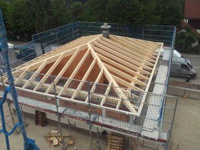 Neubau eines Dachstuhls
