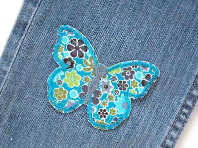 Bügelbild Schmetterling, Aufbügelflicken Schmetterling