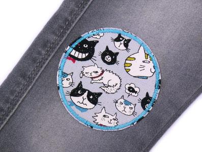 Bild: Knieflicken Hosenflicken Aufbügler Hunde und Katzen Flicken zum aufbügeln für Kinder