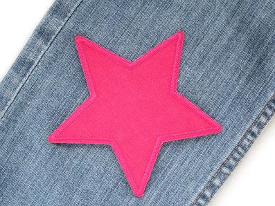 !B: Flicken zum aufbügeln aus Babycord-Stoff in leuchtendem pink