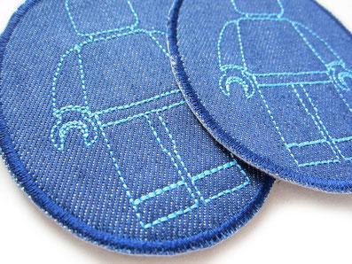 Bild: Legomännchen Flicken zum aufbügeln, Knieflicken für Kinder für Jeans