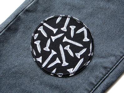 Bild: Hosenflicken Bügelflicken Knieflicken zum aufbügeln für Kinder mit Schrauben