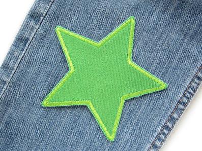 Bild: Stern Cord grün Aufnäher