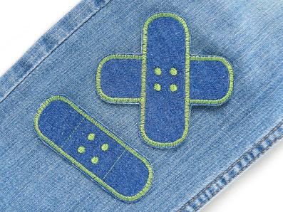 Bild: Hosenpflaster Hosenflicken zum aufbügeln im Set als Flicken für die Jeans zum schnellen Reparieren von Hosenlöchern