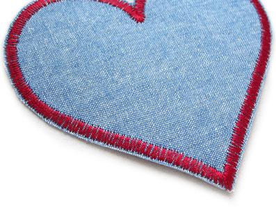 Bild: Bügelflicken Herz, Retro Jeansflickenzum aufbügeln