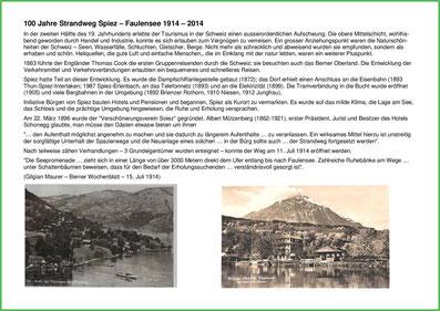 100 Jahre Strandweg Spiez 1914 - 2014