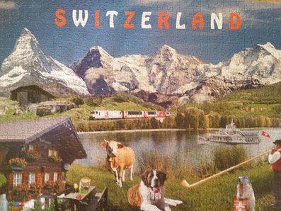 Puzzle Schweizer Berge mit Matterhorn