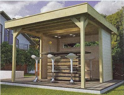 Raucherhaus Lippe auch als Garten-Bar etc. einsetzbar